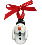 Snow Manatee Holiday Ornament