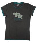 Pajama T-Shirt - Charcoal Gray  NO WAKE ZONE