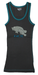 Pajama Tank Top Charcoal Gray  NO WAKE ZONE
