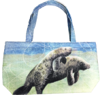 Mom and Calf Tote Bag