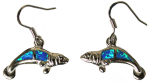 Simulated Opal Manatee Earrings