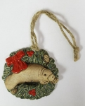 Bow and Wreath Holiday Ornament