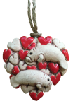 Tiny Hearts and Manatee Ornament