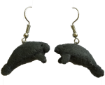 Handmade Belize Felt Manatee Earrings