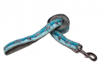 Classic Ribbon Dog Lead - Gray