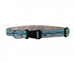 Classic Ribbon Dog Collar - Gray