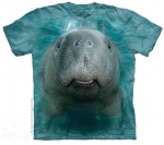 Big Manatee Face Shirt-Youth