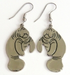 Manatee Drop Hook Earrings