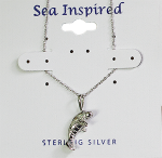 Sterling Silver Manatee Necklace